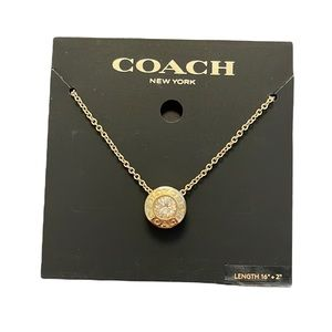 NWT Coach Open Circle Stone Strand Necklace